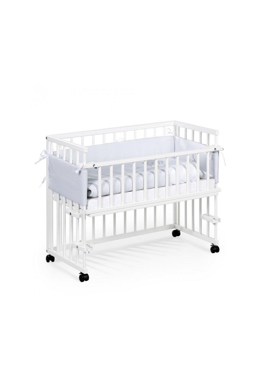 Patut bebe, lemn, Piccolo, alb, 95x45cm imagine