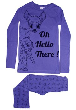 Pijama mov deschis, pantalon 3/4, Bambi