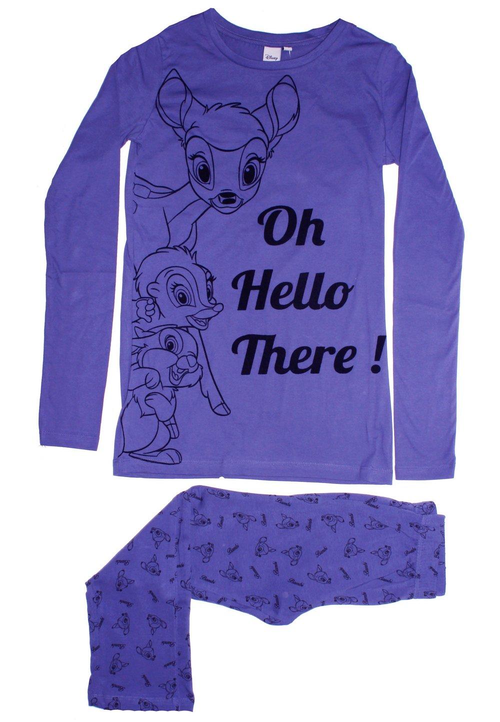 Pijama mov deschis, pantalon 3/4, Bambi imagine