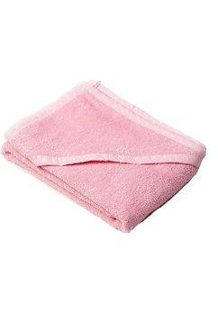 Prosop baie cu gluga, bumbac, roz cu bulinute albe , 75x75cm