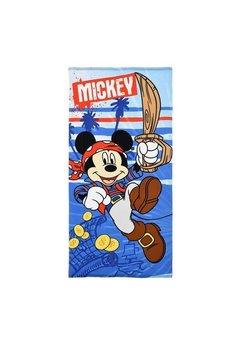 Prosop de plaja, Mickey piratul, albastru, 70x140cm