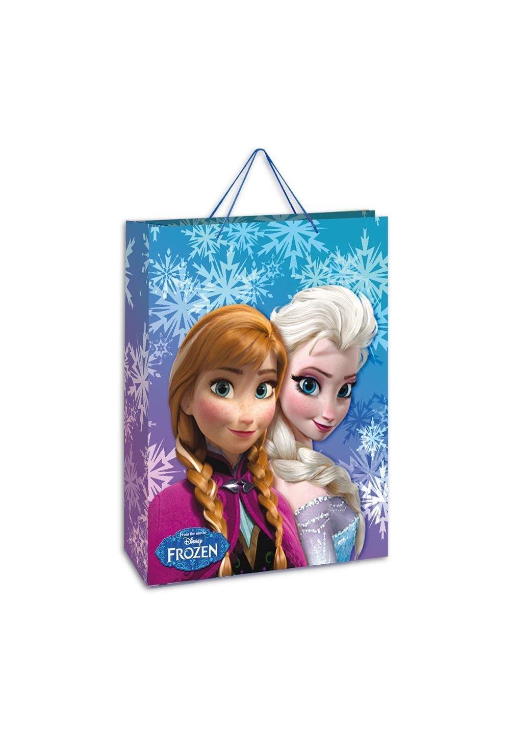Punga cadou, mare, Anna si Elsa, cu fulgi de zapada imagine