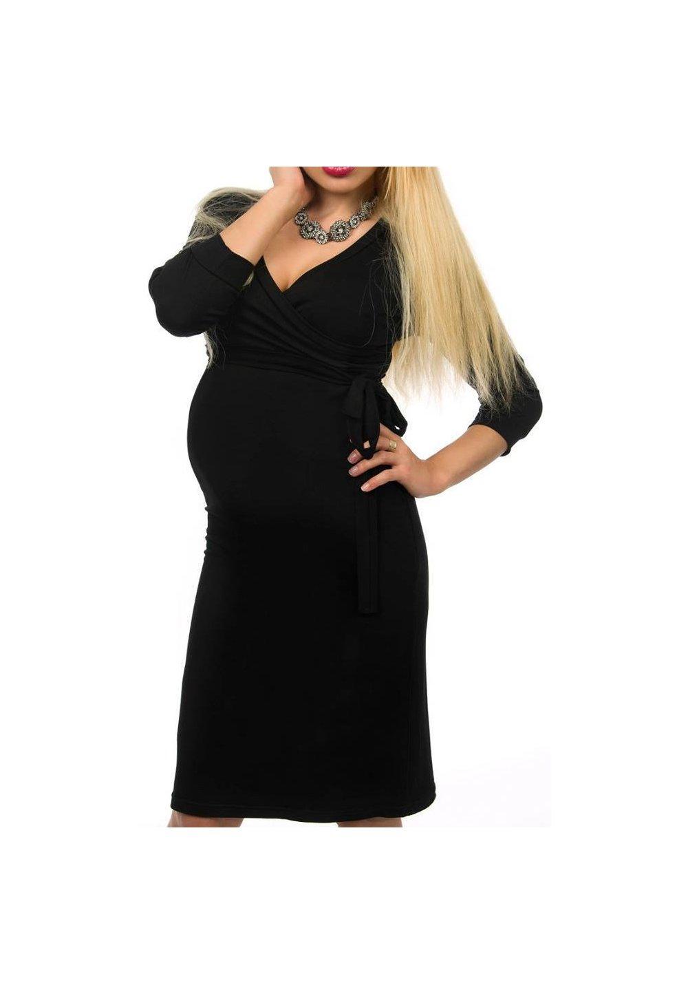 Rochie gravide neagra, Nina imagine
