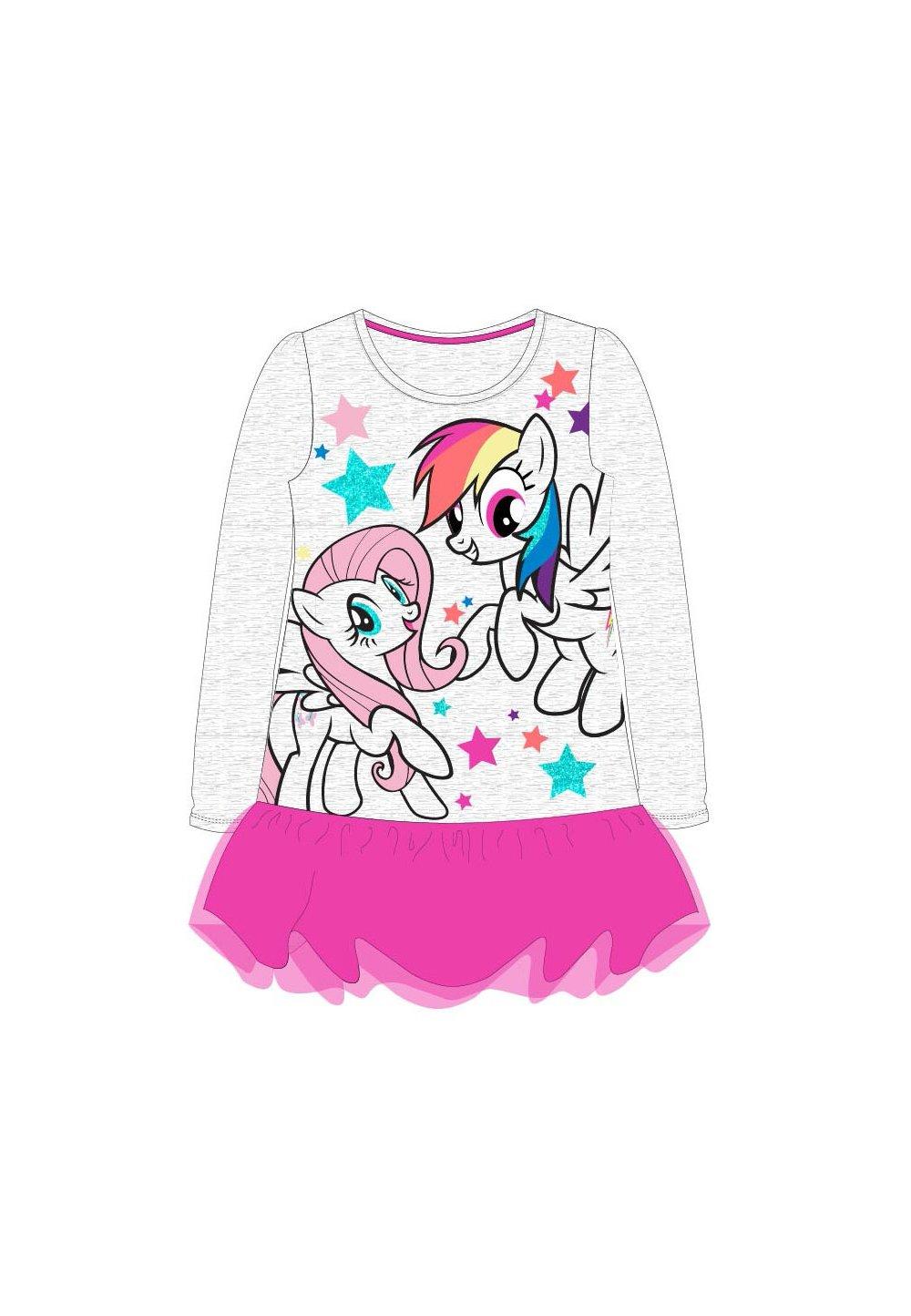 Rochie, maneca lunga, Pony, roz imagine