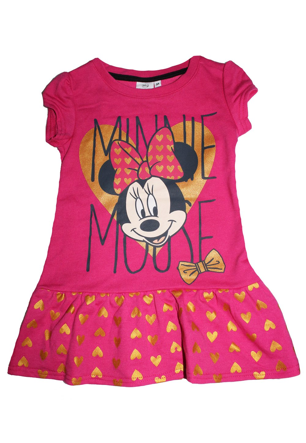 Rochie Minnie Mouse, roz cu inimioare imagine