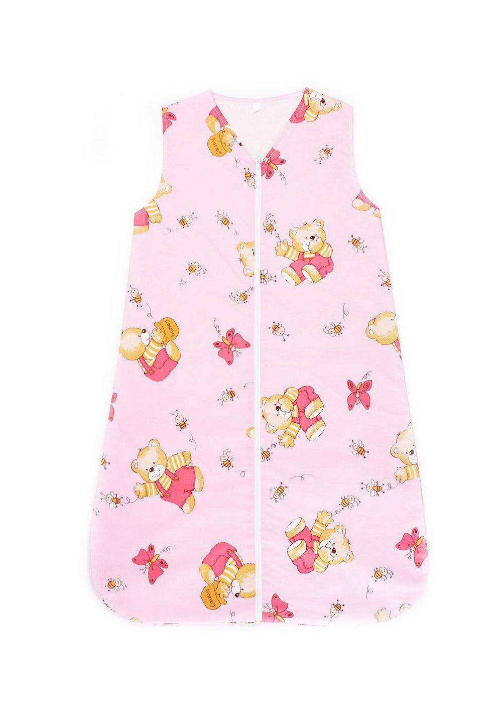 Sac de dormit, iarna, ursulet cu albinute, roz imagine