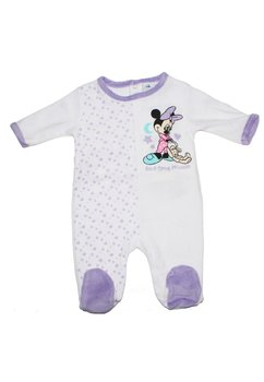 Salopeta bebe Minnie mouse, cu stelute, mov