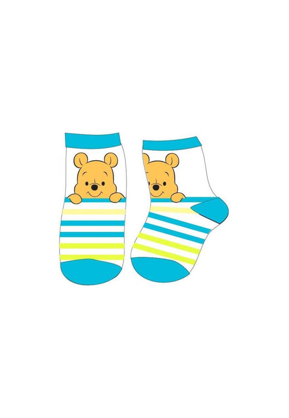 Set 2 sosete, Winnie si Tiger, albastru cu gri imagine