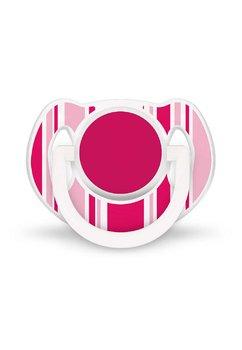 Set 2 suzete, roz cu alb, 6-18 luni