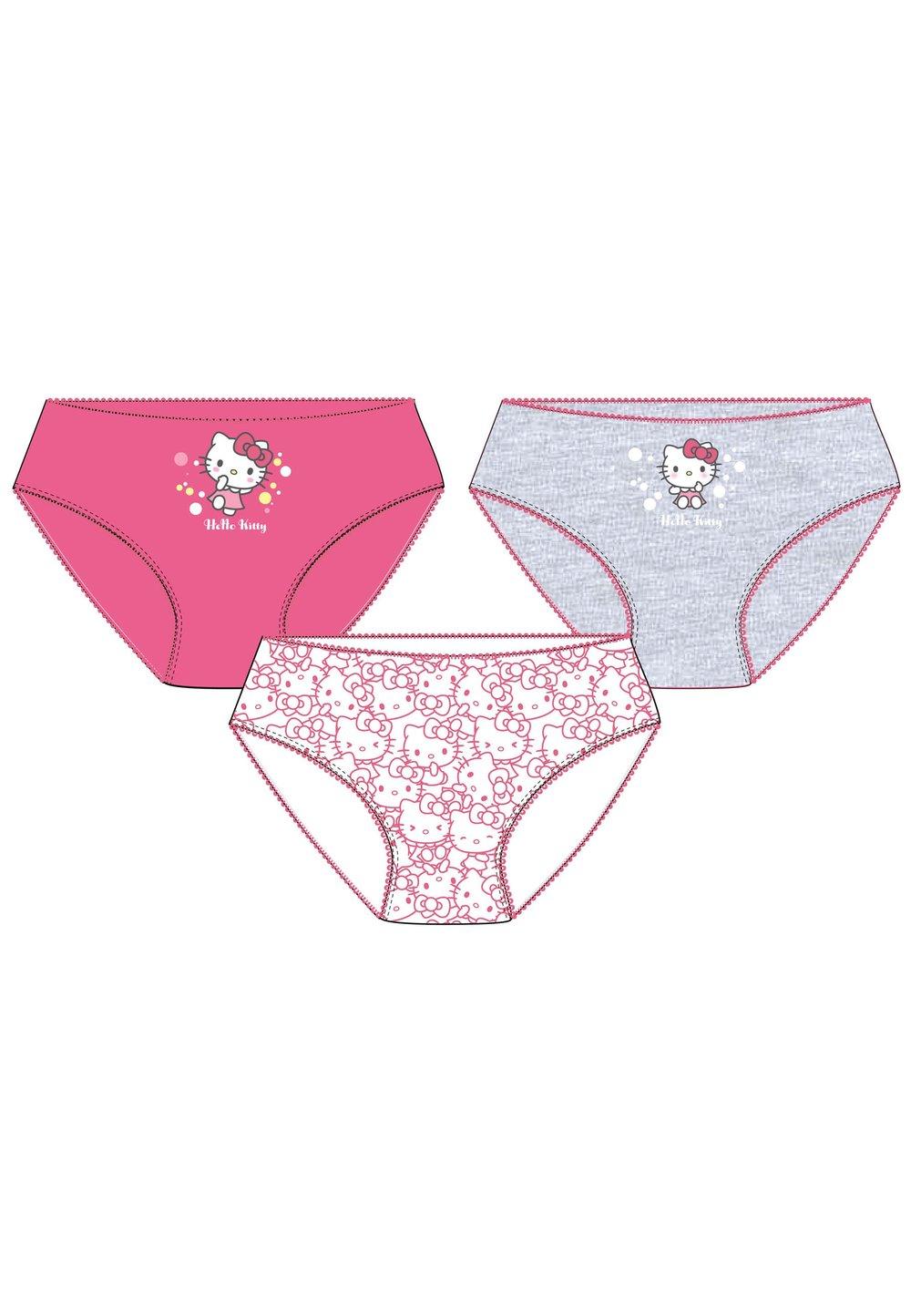 Set 3 perechi de chiloti, Hello Kitty, roz si gri imagine