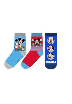 Set 3 sosete, albastru, Mickey Mouse