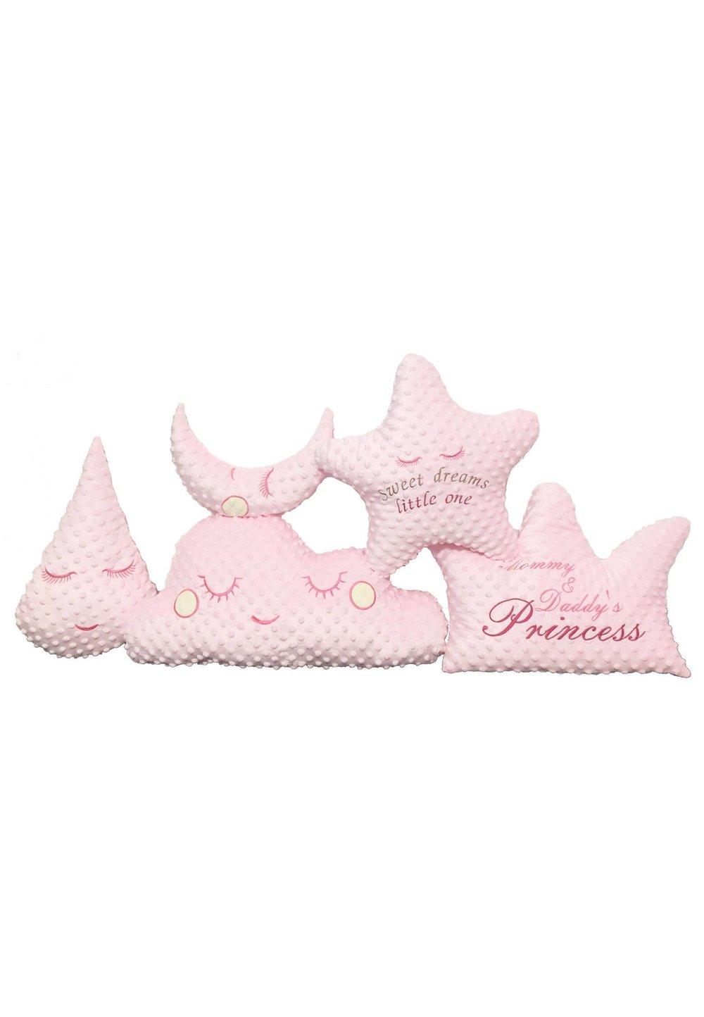 Set 5 pernute Minky, roz imagine