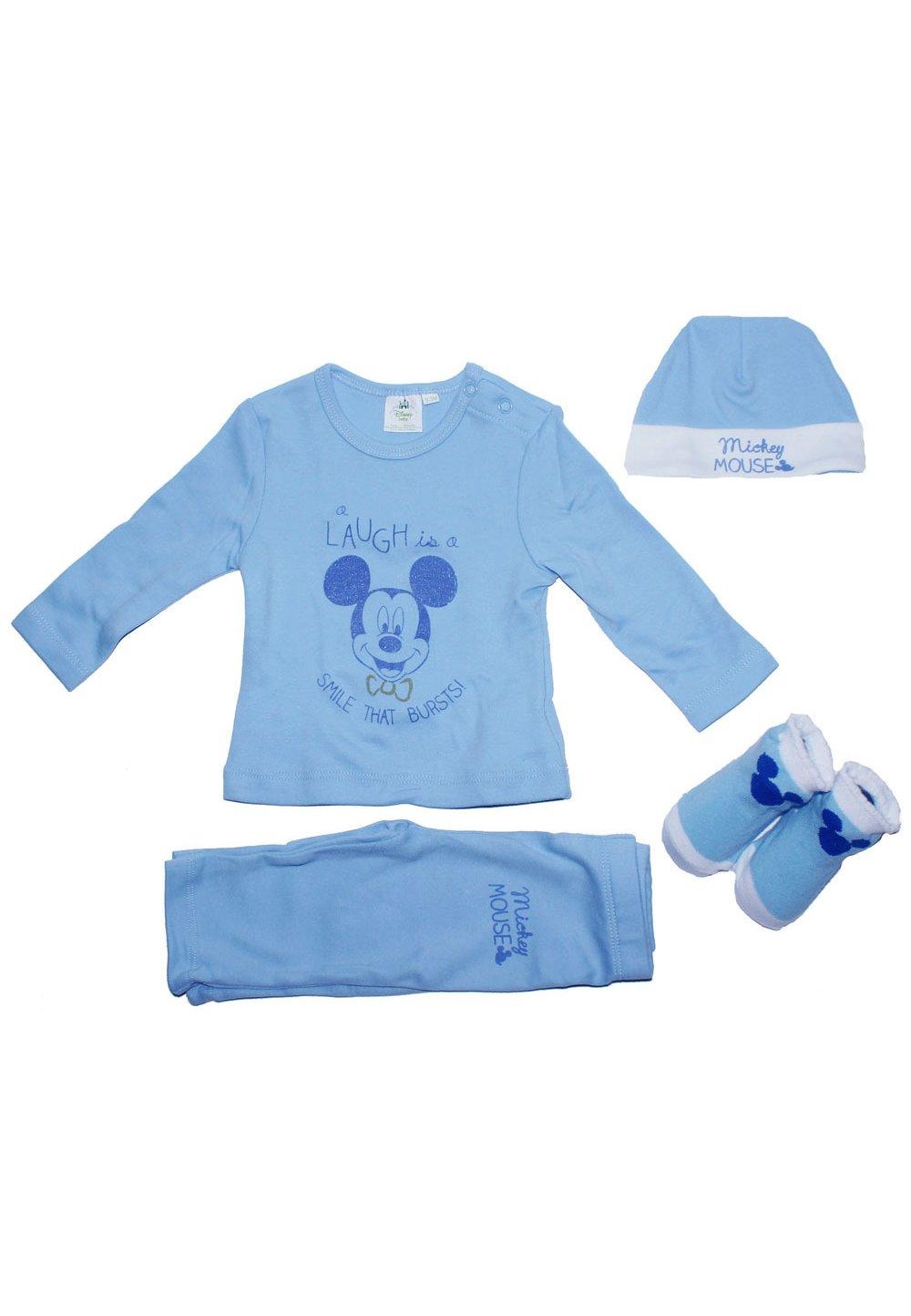Set bebe, Mickey Mouse, albastru imagine