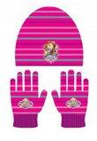 Set caciula+manusi sofia roz inchis