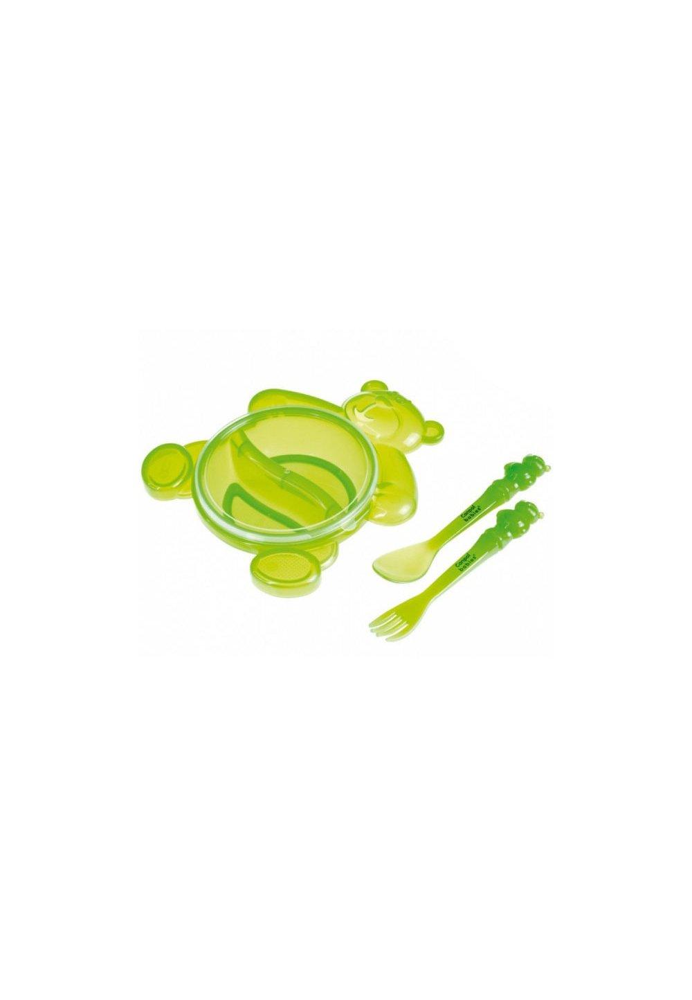 Set castronas si tacamuri, ursulet verde imagine