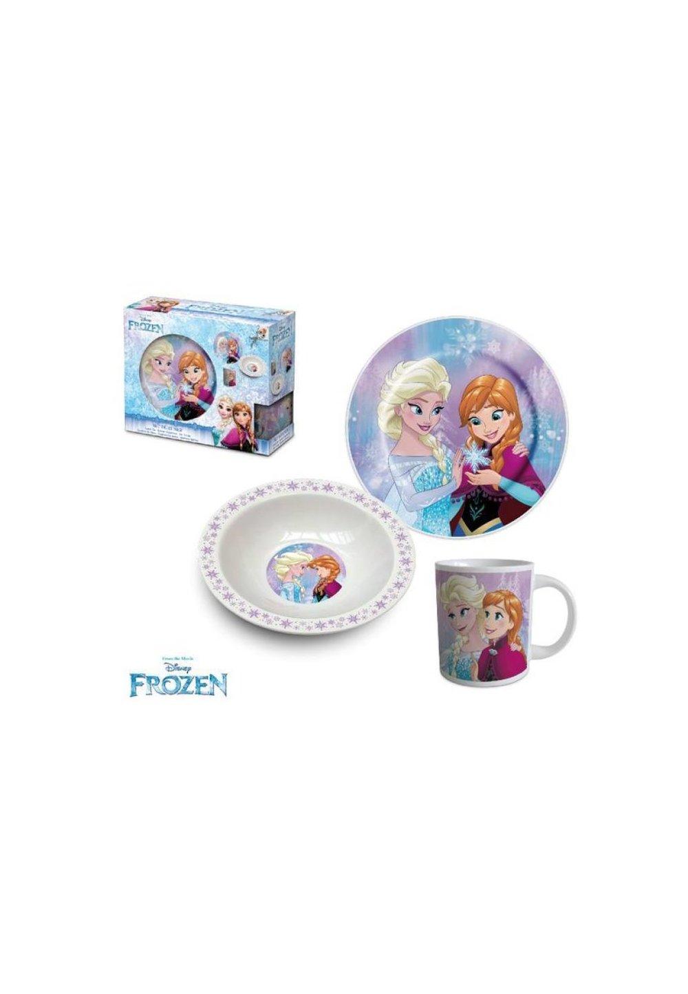 Set mic dejun, ceramic, Anna si Elsa imagine