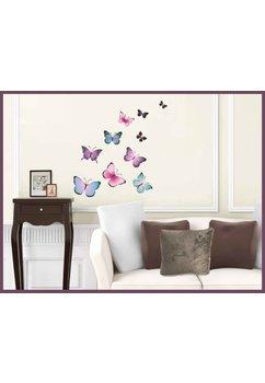 Stickere perete, fluturasi colorati