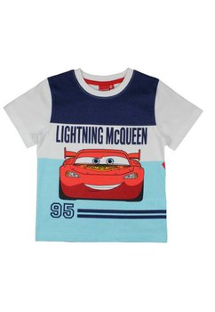 Tricou alb,  Lightning Mc Queen