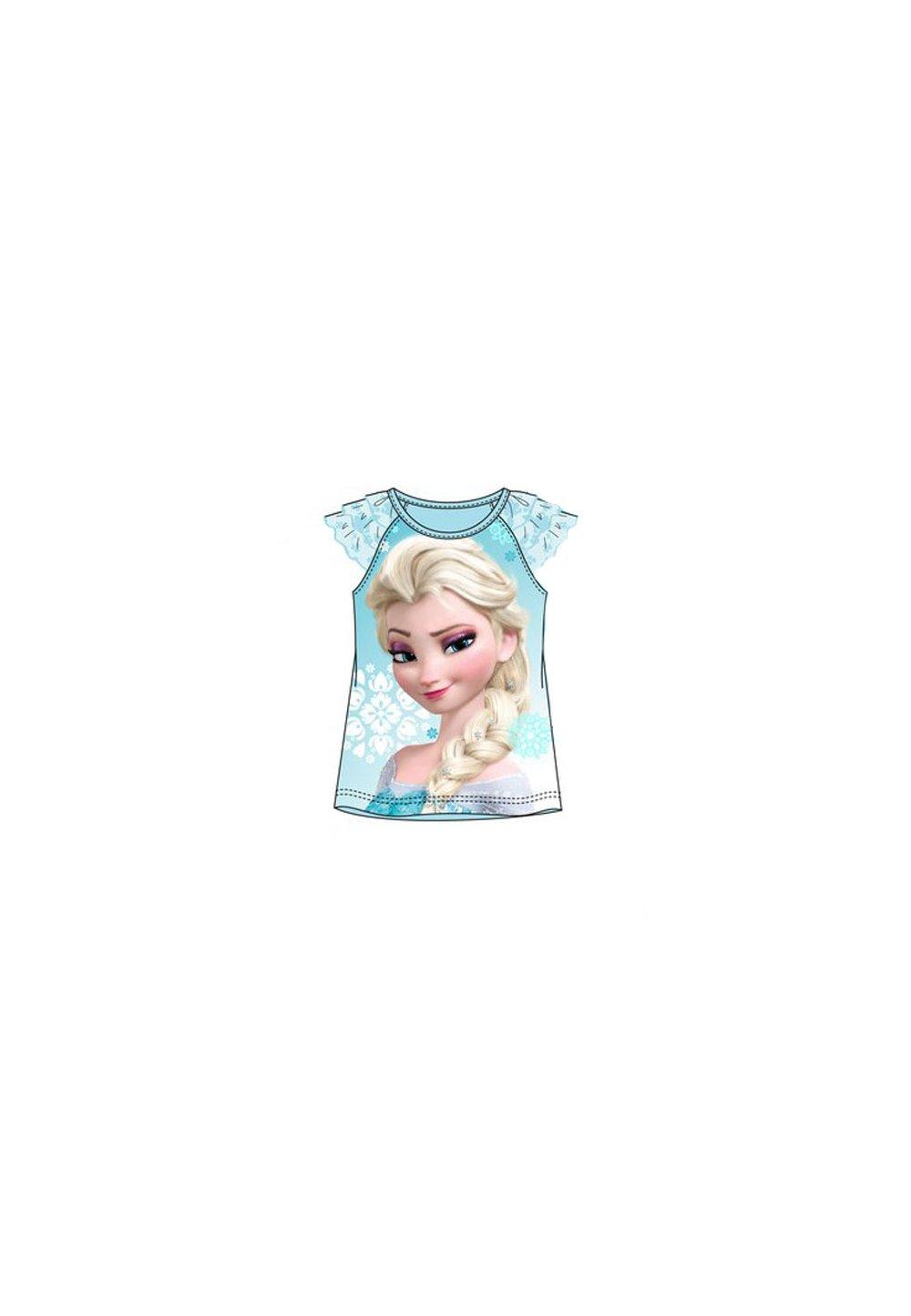 Tricou cu tull, Frozen, albastru deschis imagine