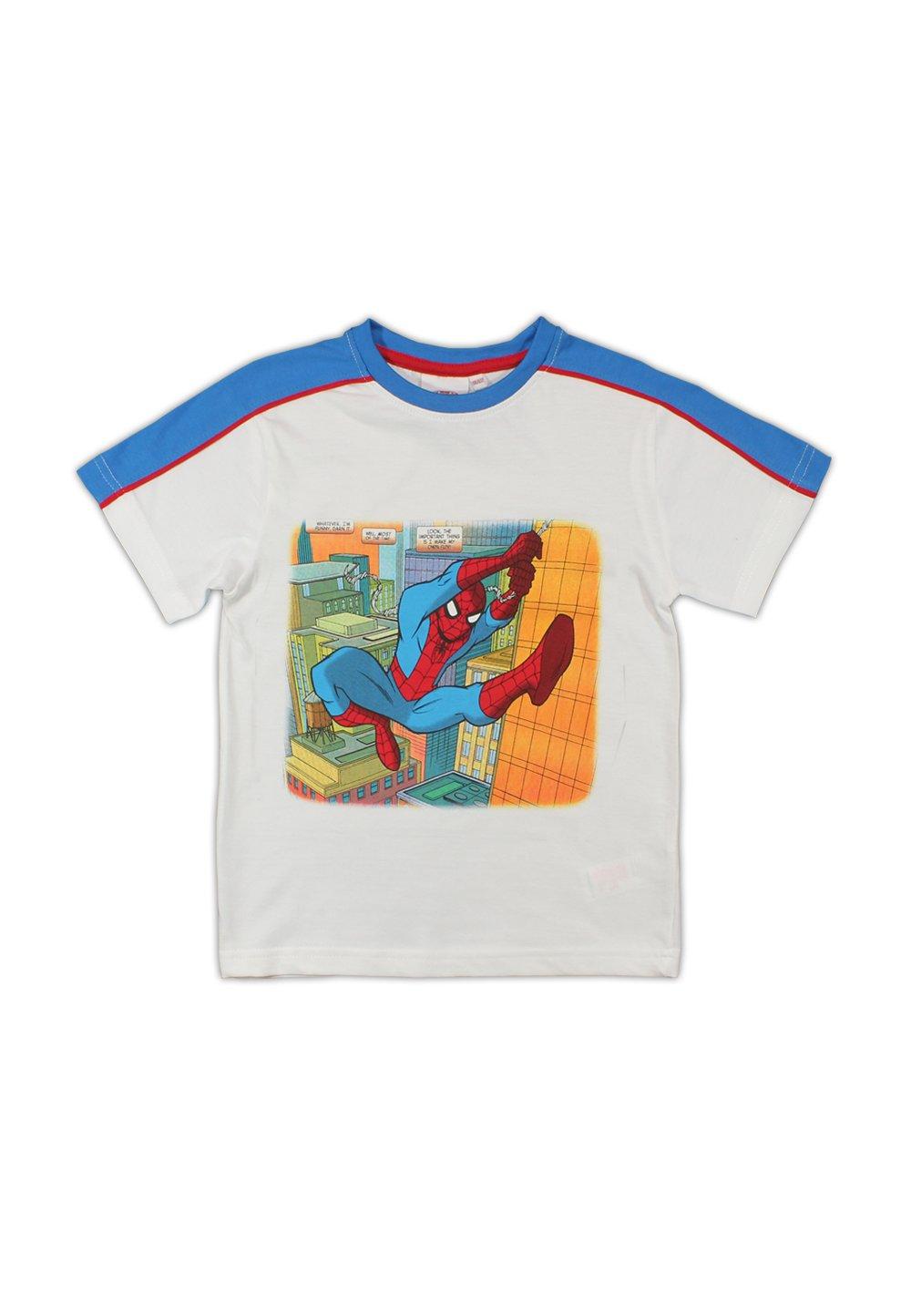 Tricou Spider-Man, alb cu albastru imagine