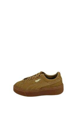 Pantofi Sport Puma Suede Platform Oatmeal Gold