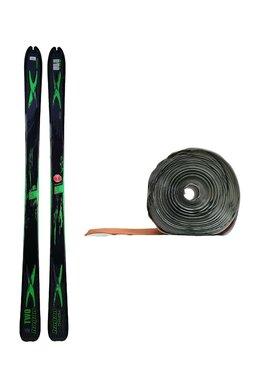 Ski de Tură Hagan Two Chimera Black/Green + Piei de focă