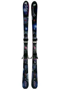 Ski K2 Super One Blue Pink + Legături Marker
