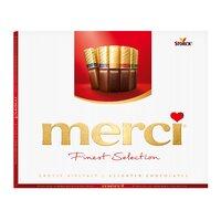 Ciocolata asortata Merci cu 8 sortimente de specialitati de ciocolata 250gr