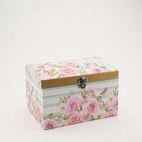 Cutie cufar trandafiri roz