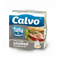 Ton afumat pentru sandvis Calvo 142gr