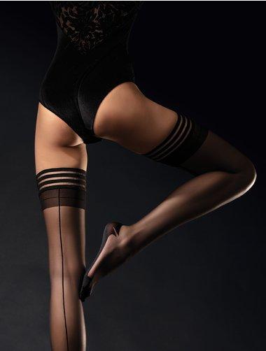 Ciorapi cu dunga si banda adeziva Fiore Femme Fatale 20 den