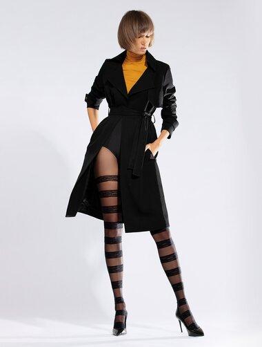 Ciorapi cu model 3D cu dungi orizontale Knittex Horizontal 30 den