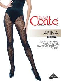 Ciorapi cu model dungi in carouri Conte Elegant Afina 30 den