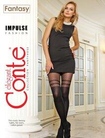 Ciorapi cu model imitatie jambiere Conte Elegant Impulse 60 den