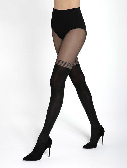Ciorapi cu model imitatie jambiere Gatta Girl Up 40 60 den