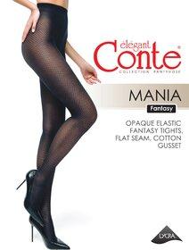 Ciorapi cu model imitatie plasa Conte Elegant Mania 30 den