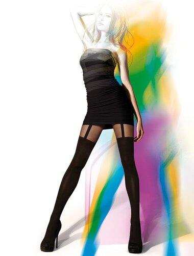 Ciorapi cu model imitatie portjartier Gatta Girl Up 01 60 den