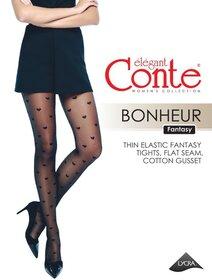 Ciorapi cu model inimioare Conte Elegant Bonheur 20 den