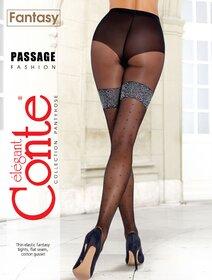 Ciorapi cu picatele Conte Elegant Passage 20 den