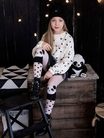 Ciorapi fete cu model panda Knittex Ling Ling 40 den