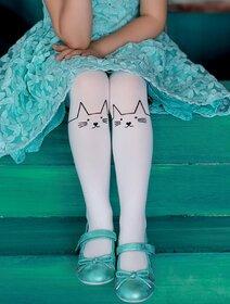 Ciorapi fete cu model pisica Knittex Fifi 40 den
