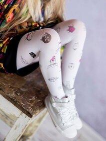 Ciorapi fete cu model pisicute Knittex Crazy Cat 40 den