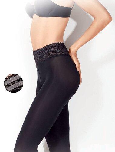 Ciorapi microfibra cu talie dantelata si silicon Gatta Softi Comfi 140 den