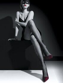 Ciorapi plasa mica cu strasuri Knittex Myriad