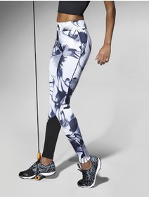 Colanti sport albi cu imprimeu Bas Bleu Calypso 200 den