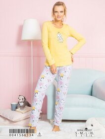 Pijamale bumbac cu pisicuta Vienetta 6534