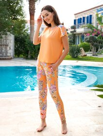 Pijamale viscoza cu flori Berrak 886