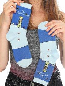 Sosete albastre cu micul print Socks Concept SC-1543