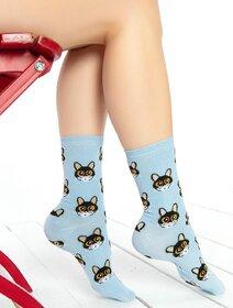 Sosete albastre cu pisicuta Brogetti BRG435