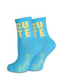 Sosete albastre cu text imprimat Socks Concept BRG642-7